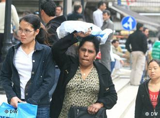 Migrant domestic workers on the street