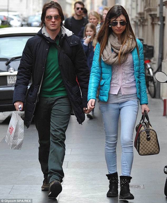 Raffaele Sollecito (left) and girlfriend Greta Menegaldo, an Italian air hostess, pictured in Milan in February last year. Amanda Knox's former lover has cast doubt on her alibi on the night of Meredith Kercher's murder