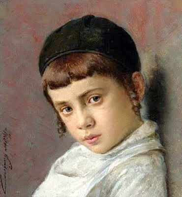 Portrait Of A Young Boy With Peyot