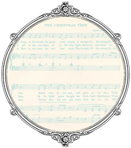 light turquoise Christmas GF sheet music  paper SAMPLE