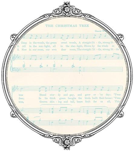 light turquoise Christmas GF sheet music  paper SAMPLE