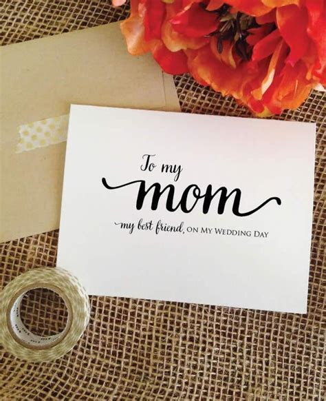 Mother of the bride gift   To my mom my best friend, on my