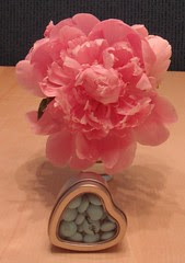 Peony and shower favor