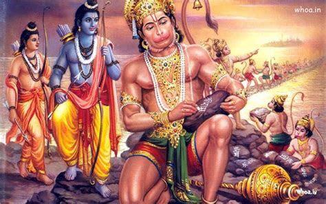 hanuman writting shri ram  stone
