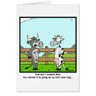 Piercing Greeting Card