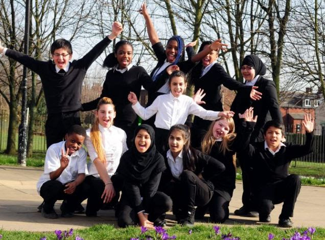 Pupils at the comprehensive come from nations around the world, and a minority are native English speakers