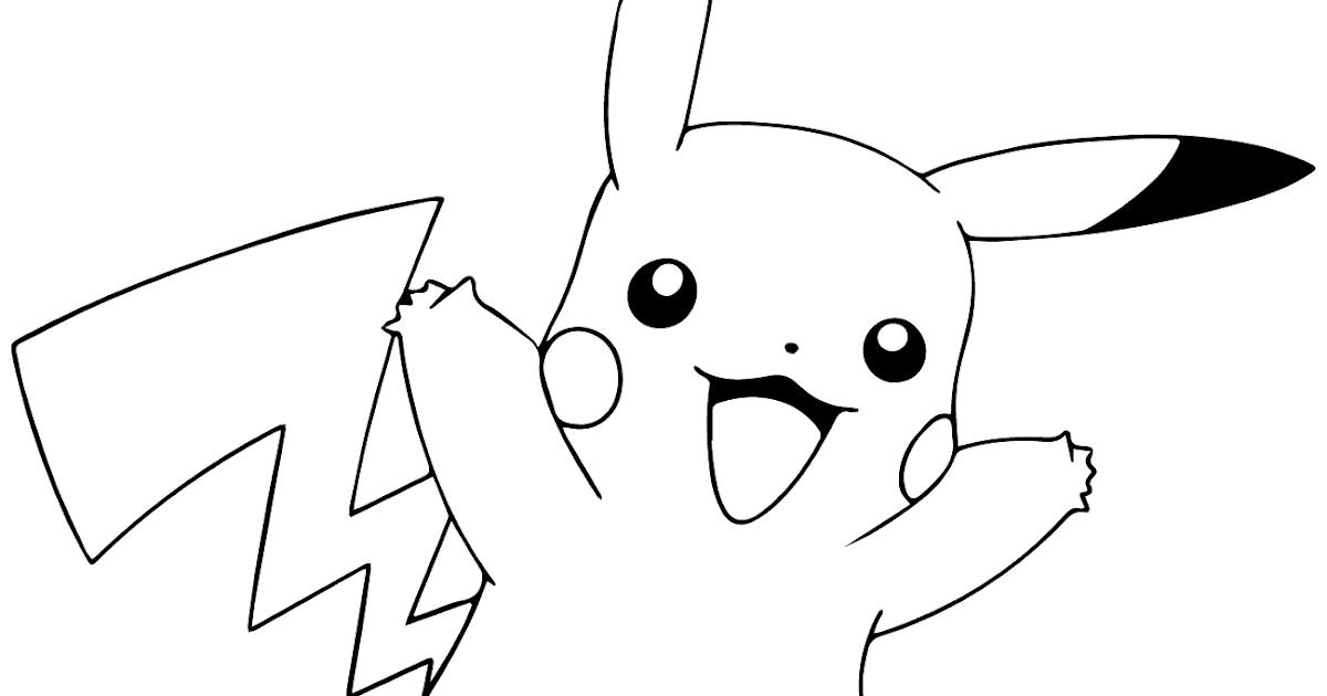 ausmalbilder pokemon pikachu  cartoonbild