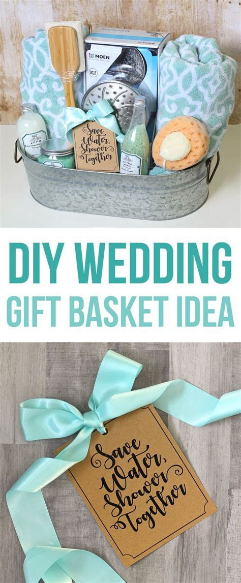 DIY wedding gift basket with printable tag   Amazing Diy