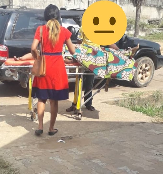 Drama As 'Born Again' Christian Lady Fails To Raise The Dead After Praying At Lagos Hospital (Photo)