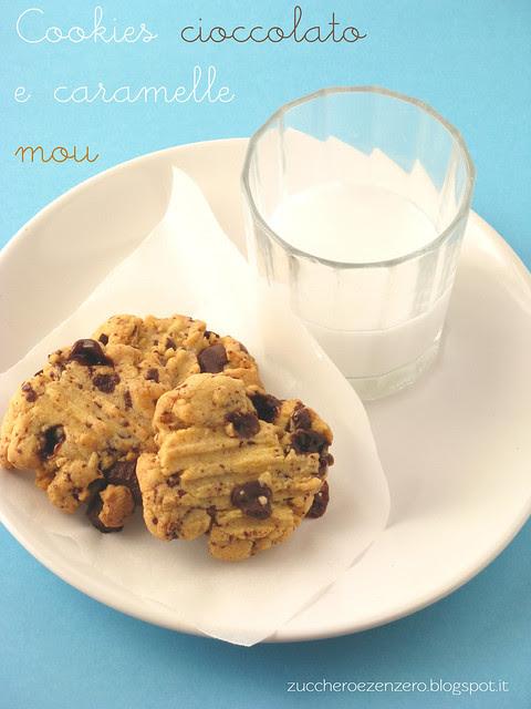 Cookies al cioccolato e caramelle mou