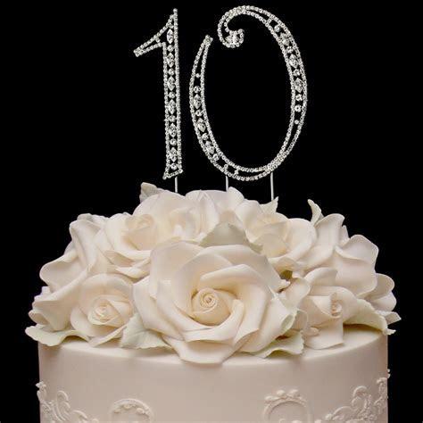 Vintage Swarovski Crystal Cake Topper   Elegant Bridal