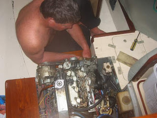 Working on the engine