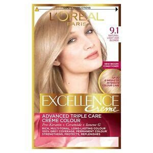 loreal excellence creme hair colour  light natural ash blonde ebay
