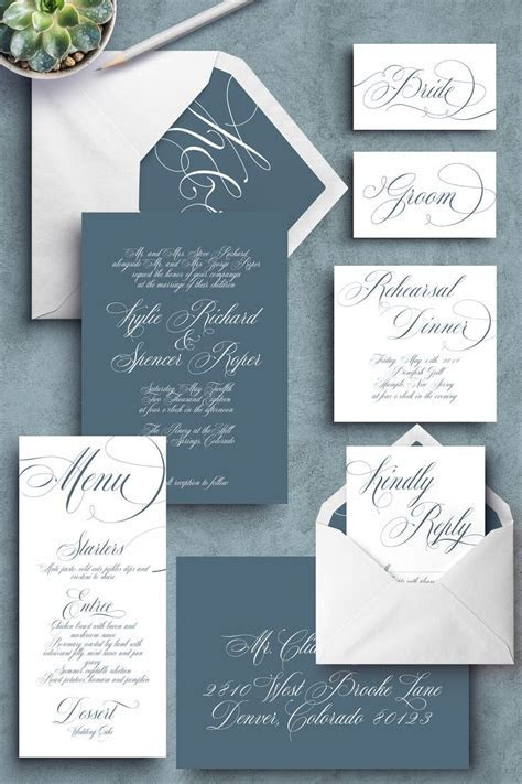 25  best ideas about Grey wedding invitations on Pinterest