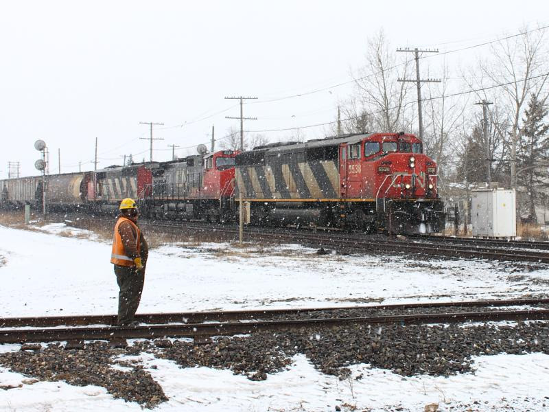 CN 5538 in Winnipeg