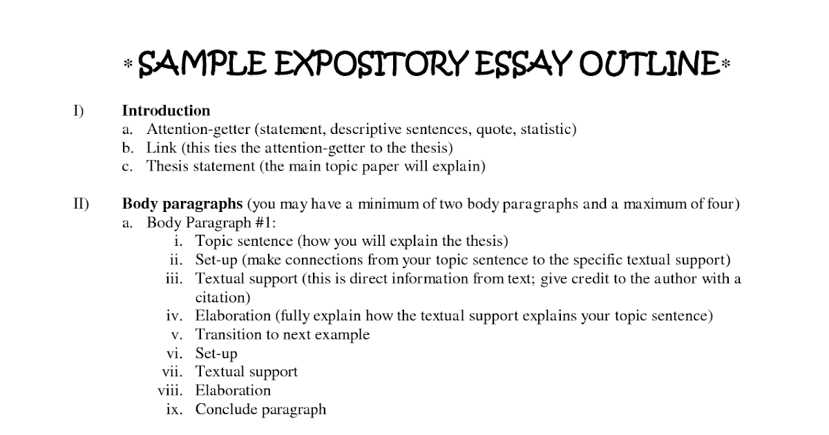 definition essay expository writing introduction examples