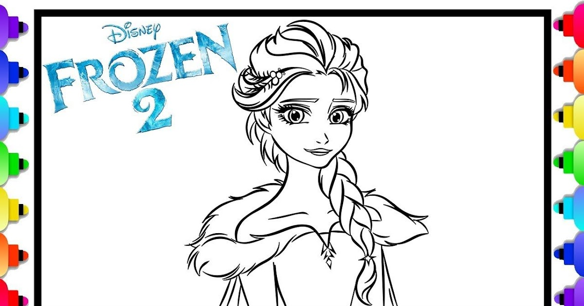 Coloring Pages Elsa Frozen 2 Drawing Easy - colouring mermaid