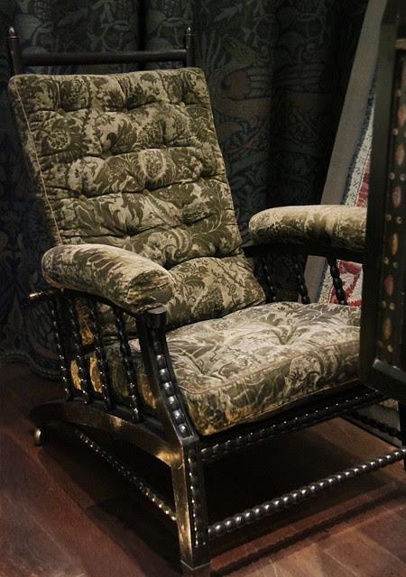 Adjustable-back chair, designed by Phillip Webb, 1870-90