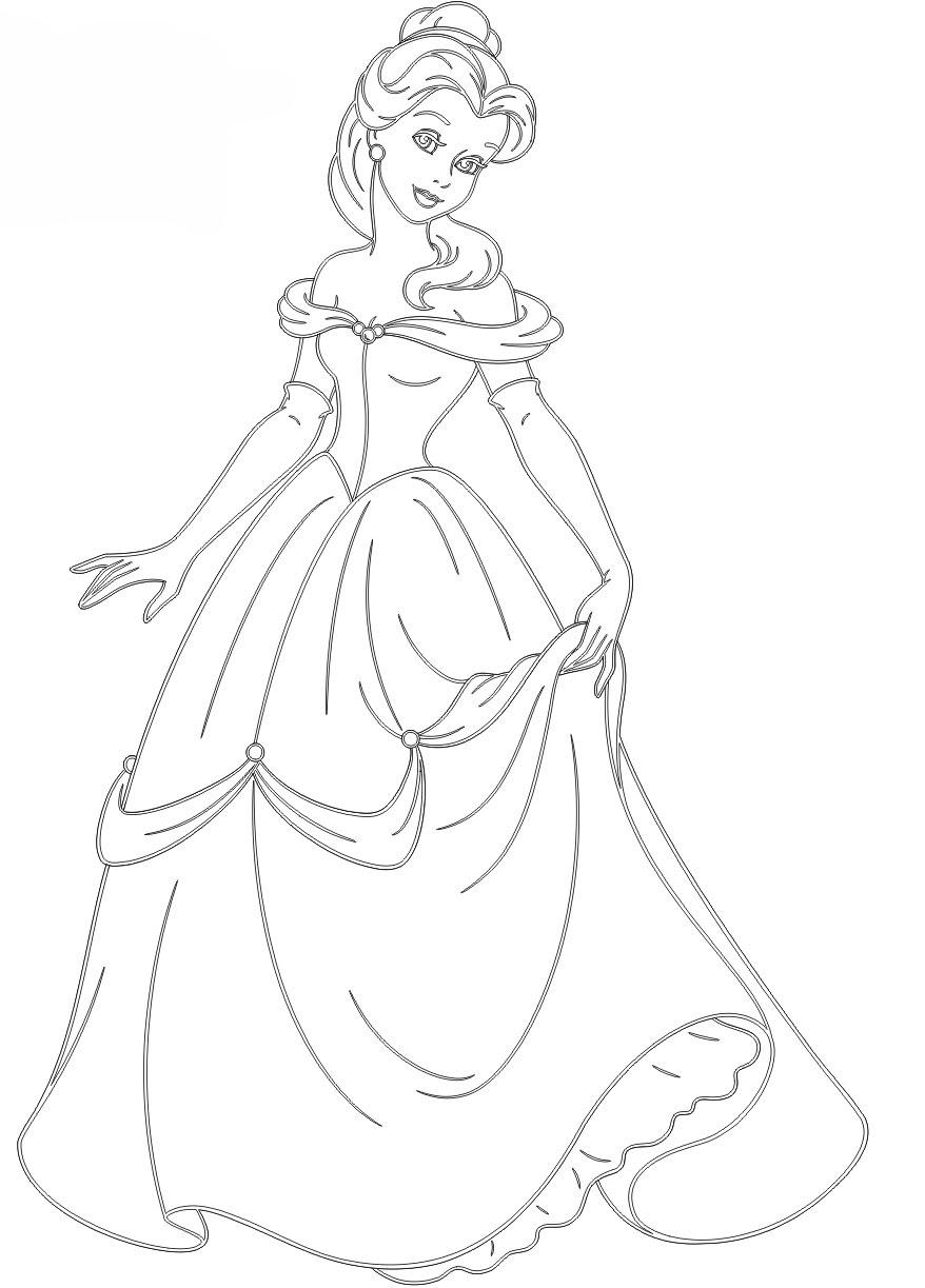 Ausmalbilder Prinzessin Ausmabilder