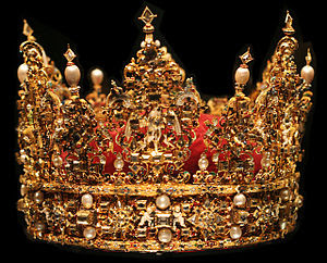 The crown of King Christian IV of Denmark, cur...