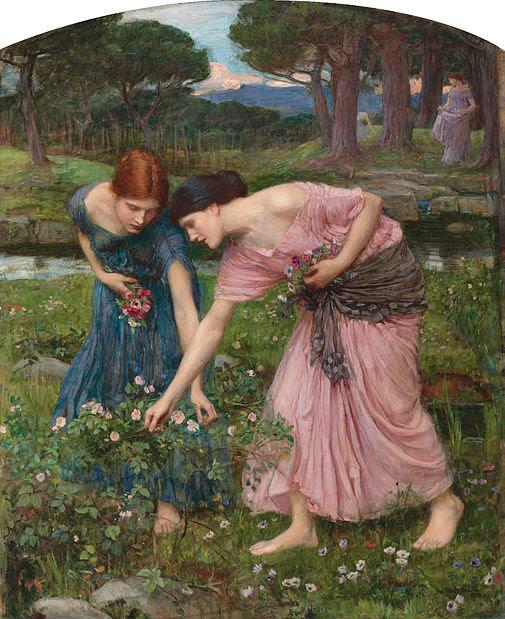 File:Waterhouse-gather ye rosebuds-1909.jpg