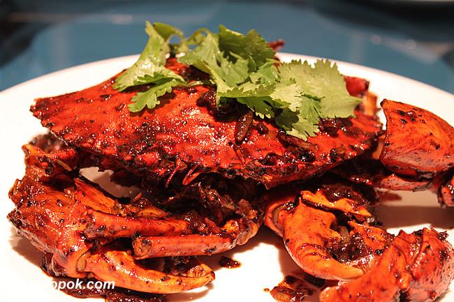 Black Pepper Crab with Fresh Peppercorns