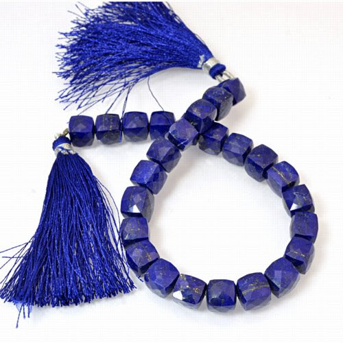 s43828 Stone Beads -  Faceted Rondelle - Lapis (strand)