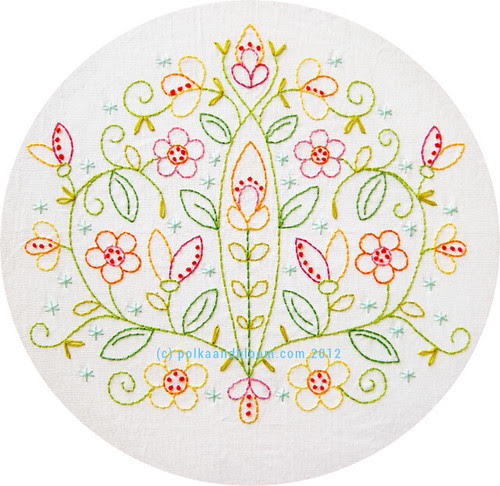 May Flowers embroidery pattern