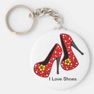 I Love Shoes keychain.