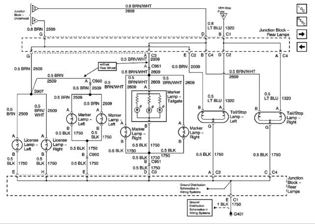 32 2001 Chevy Silverado Tail Light Wiring Diagram