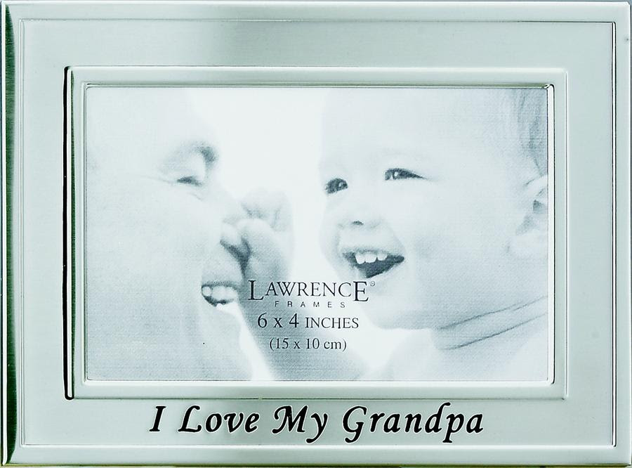 Brushed Silver I Love My Grandpa Picture Frame