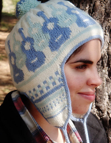 Free Knitting Pattern for Guitar Earflap Hat