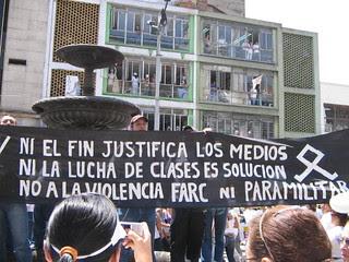 Marcha Contra las FARC en Medellín Colombia 4 de febrero 2008