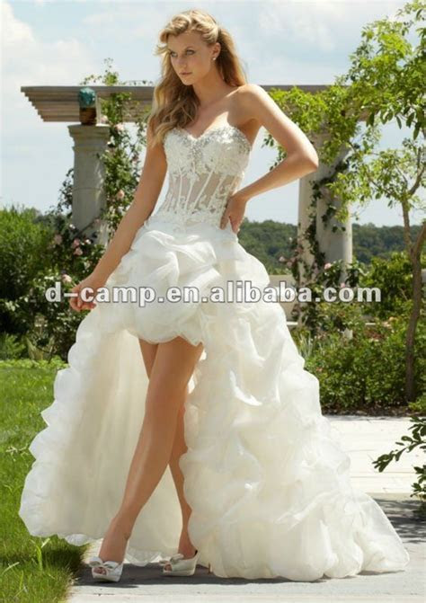 WD 696 New arrival see through corset wedding dress front
