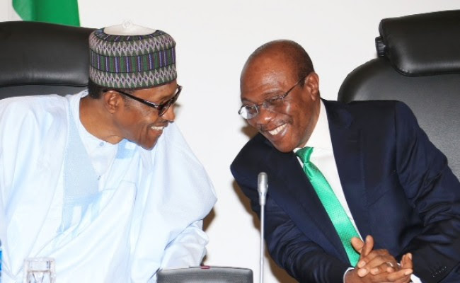Image result for cbn governor with buhari