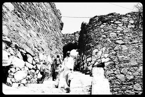 Climbing Taragadh Barefeet by firoze shakir photographerno1