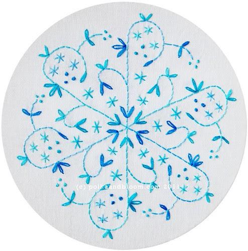 2011 Snowflakes - Aqua