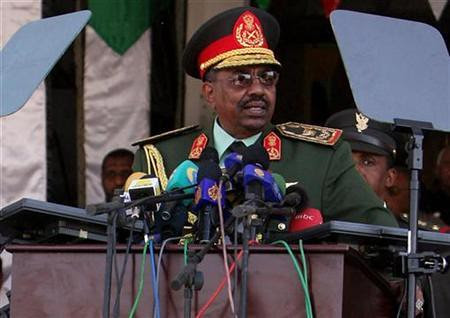 Sudan President Omar Al-Bashir speaking at the national independence celebration on December 31, 2008. by Pan-African News Wire File Photos