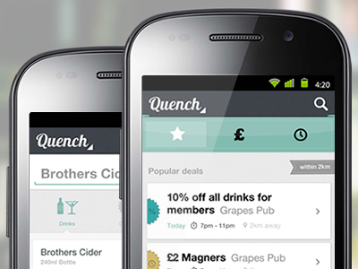 deals and coupons on mobile Android smartphone app