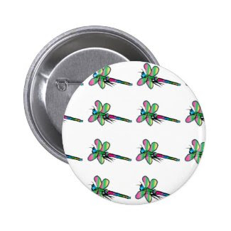 Dragonfly Design Button