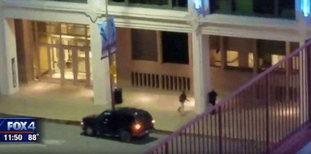 Footage of shootings in Dallas