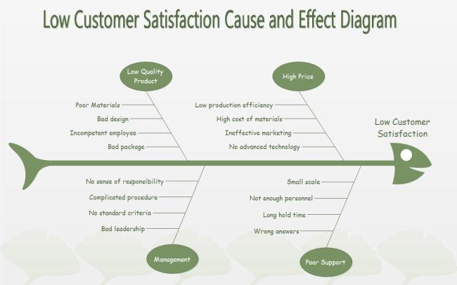 low satisfaction fishbone