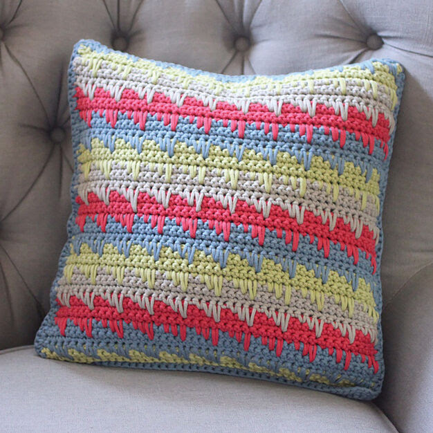 Bernat Reversible Spike Stitch Pillow Cover
