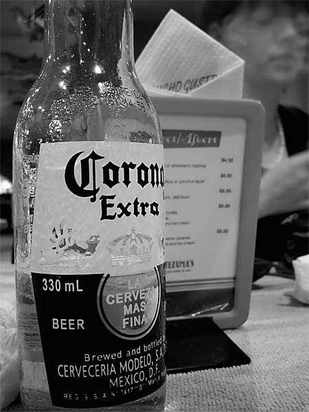 halfway through a bottle of Corona