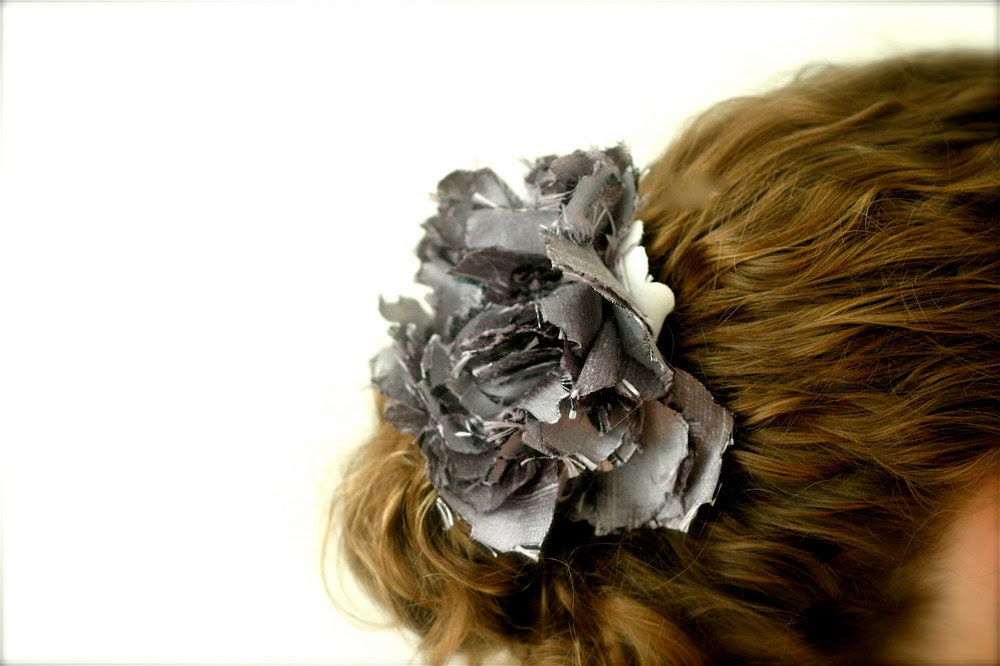 fabric flower hair facinator