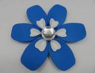 Como fazer a flor azul profundo de eva
