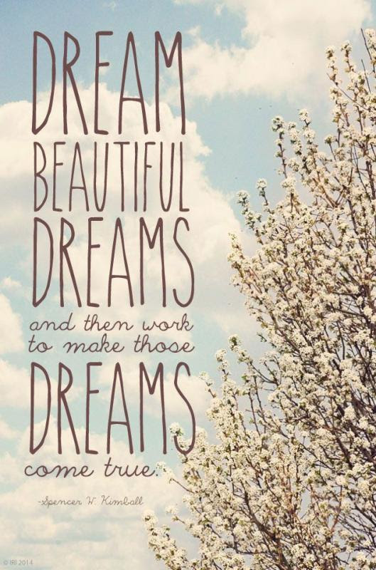 Dream Beautiful Dreams And Then Work To Make Those Dreams Come
