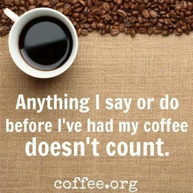 Anything I say or do before I've had my coffee doesn't count!  Come to Bagels and Bites Cafe in Brighton, MI for all of your bagel and coffee needs! Feel free to call (810) 220-2333 or visit our website www.bagelsandbites.com for more information!