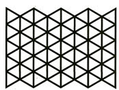 Triangle Pentagons stencil