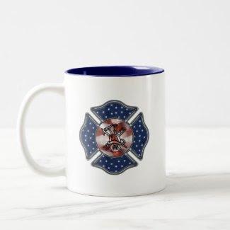 Firefighter Patriotic mug
